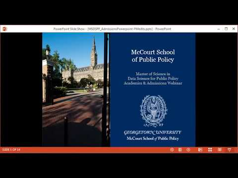 Master of Science in Data Science for Public Policy Webinar
