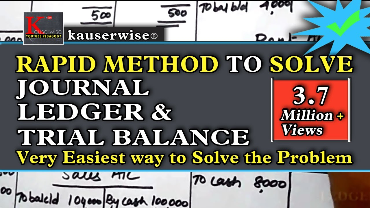 introduction to accounting journal ledger trial balance simple