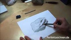 Zeichnen Lernen für Anfänger Online [Stein realistisch zeichnen]