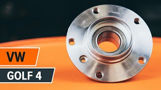 Replacing Wheel Bearing yourself video instruction on VW GOLF
