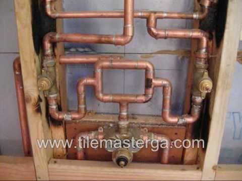 How to KOHLER custom shower system setup  pressure loop  plumbing conections Atlanta tile