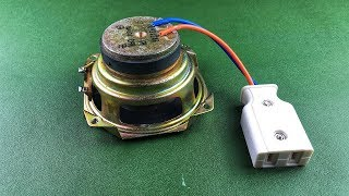 School Science Project Electric Free Energy Generator Self Running Speaker Magnet With DC Motor 2019
