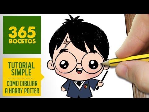 Como Dibujar Harry Potter Kawaii Paso A Paso Dibujos