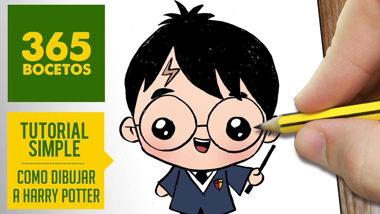 Como Dibujar Harry Potter Kawaii Paso A Paso Dibujos Kawaii Faciles How To Draw Harry Potter