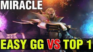 EASY GG VS TOP 1 MMR IN THE WORLD - MIRACLE INVOKER VS PAPARAZZI - Dota 2
