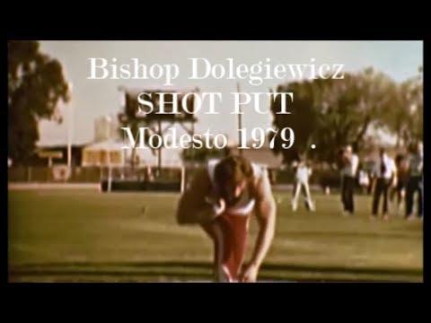 Bishop Dolegiewicz SHOT PUT Modesto 1979  .