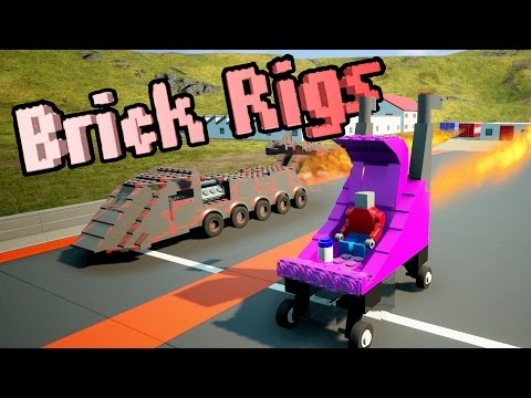 WORLD'S FASTEST DRAG RACING BABY STROLLER + ROCKET TRUCK! – Brick Rigs Workshop Creations – Gameplay