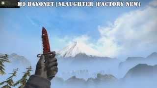 skins showcase m4a4 howl m9 slaughter glock 18 fade ak 47 vulcan awp lightining strike