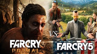FAR CRY 5 VS FAR CRY PRIMAL | QUICK GRAPHIC COMPARISON SIDE BY SIDE 2017