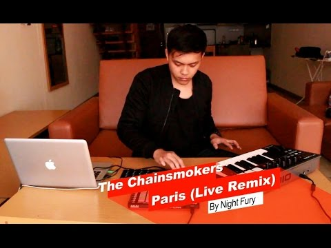M Audio Oxygen,  LPD8 & APC MINI Live Performance / The chainsmokers - Paris (Night Fury Live Remix)
