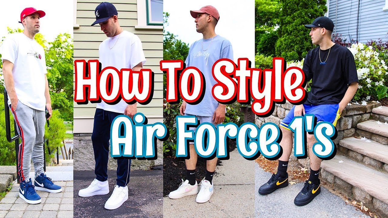 HOW TO STYLE NIKE AIR FORCE 1 SNEAKERS NIKE AF 1 LOOKBOOK