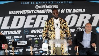 'YOU KNOW WHAT HAPPENED TO KING KONG IN NEW YORK?!' DEONTAY WILDER EXPLICIT PRESS CONFERENCE SPEECH