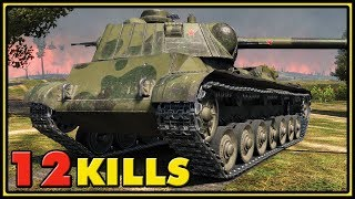 A-44 - 12 Kills - 1 vs 6 - World of Tanks Gameplay