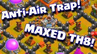 """Clash Of Clans """"Anti-Air Trap Base Layout""""   Fully Maxed Townhall 8 Anti Air Base Layout"""