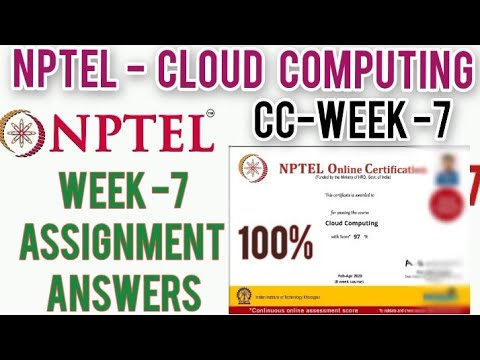 NPTEL: Cloud Computing Assignment 7 Answers | Week 7 Quiz Answers | Cloud Computing Week 7 Answers