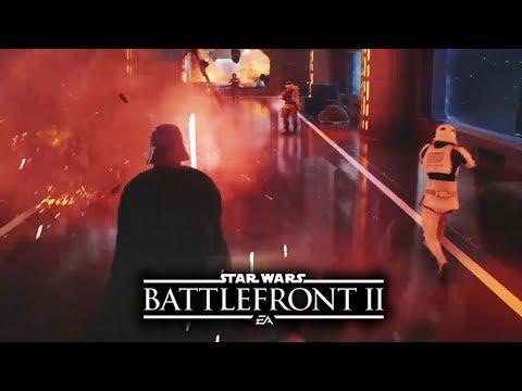 Star Wars Battlefrt 2  NEW DARTH VADER GAMEPLAY  Death Star 2! Rey  Starkiller Base!