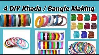 4 DIY Khada / Bangle Making at home