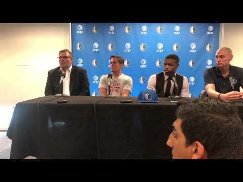 Dennis Smith Jr. dallas mavericks press conference