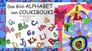 Das Bild-ALPHABET von COUKIBOUKI| Lernen des Alphabets | Deutsch-Alphabet für Kinder