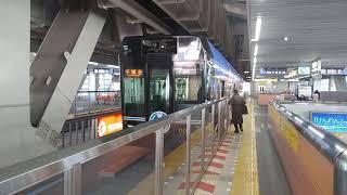 千葉都市モノレール  アーバンフライヤー0形 第1編成  初音ミク号  千葉駅(CM03)発車
