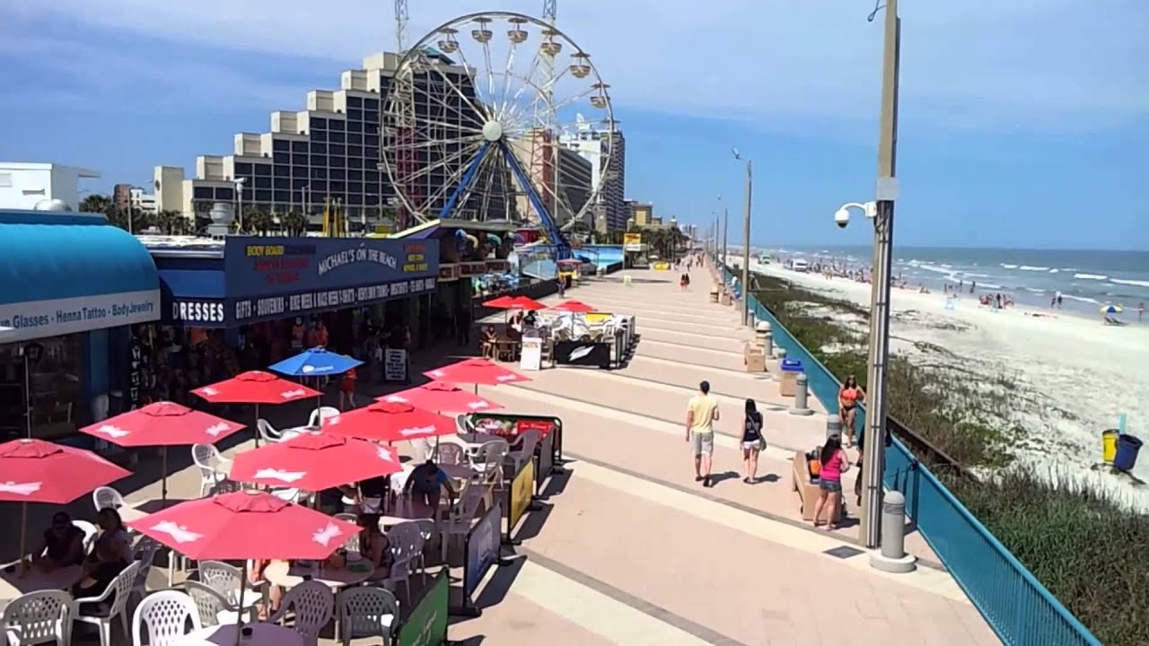 Daytona Beach Boardwalk As Viewed From The Pier