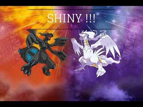 Pokemon Sun And Moon Shiny Reshiram And Zekrom Dialga Kyurem