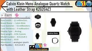 Calvin Klein Mens Analogue Quartz Watch with Leather Strap