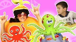 فوزي موزي وتوتي | فقرة المندلينا | لعبة الاخطبوط | Octopus Game