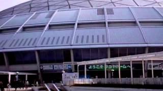 ナゴヤドームの外の景色です 1塁SKE48 3塁HKT48 私は乃木坂46の中日のユ...