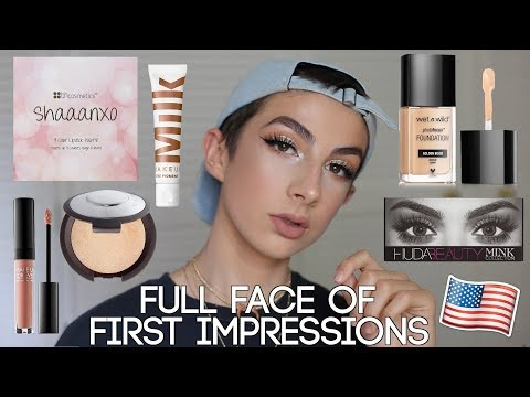 Testing American Makeup - Full Face of First Impressions! (Drugstore & Highend)