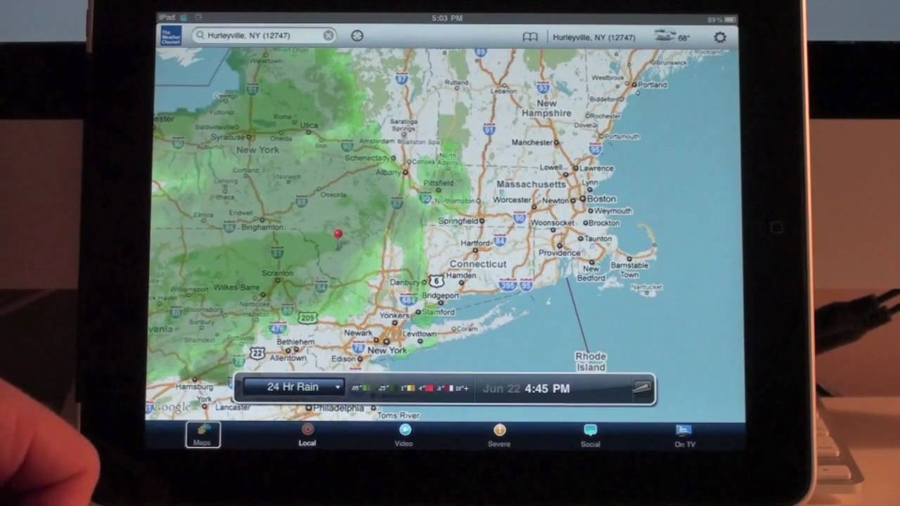 The Weather Channel App Review for iPad