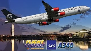 SAS Cockpit A340 to Washington