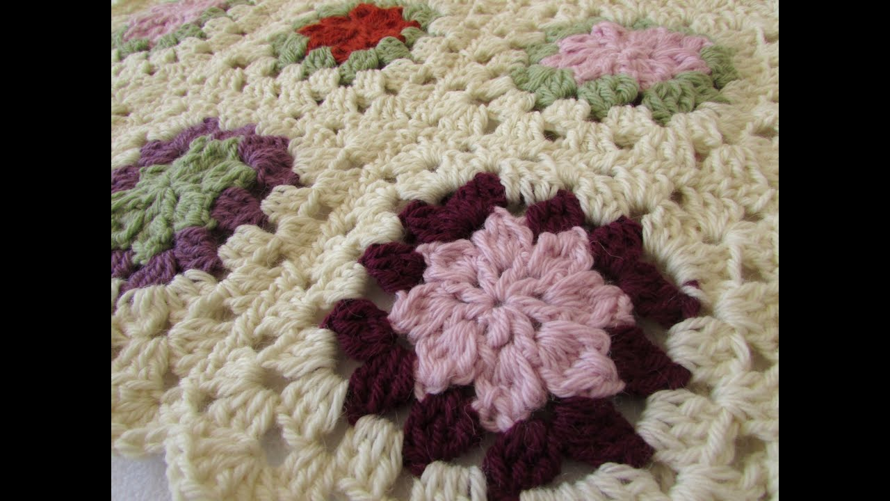 How to crochet a pretty flower granny square for beginners youtube how to crochet a pretty flower granny square for beginners mightylinksfo