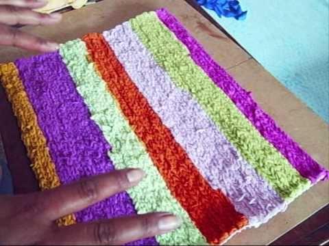 21 manualidades alfombra hecha a mano reciclaje for Como hacer alfombras a mano
