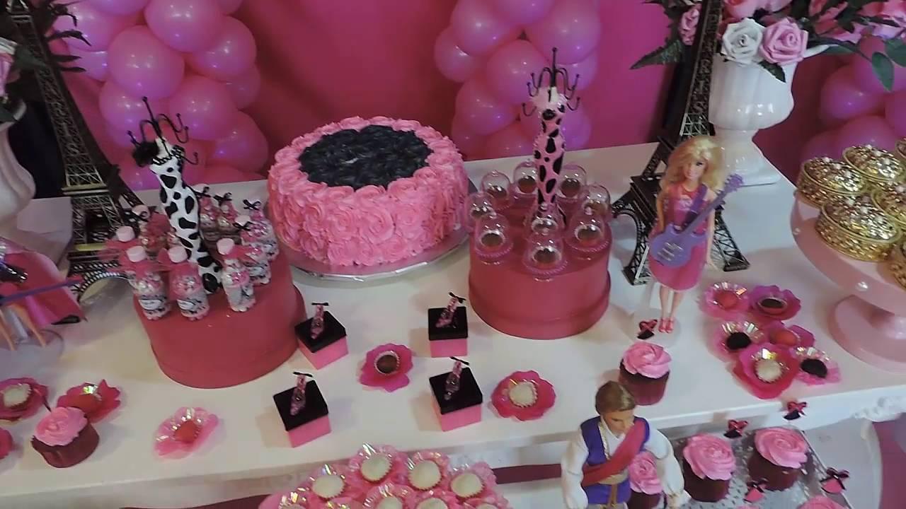 Decora??o Barbie Paris - YouTube