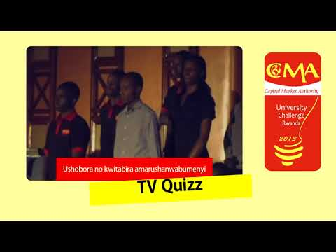 Rwanda Capital Market University Challenge 2013