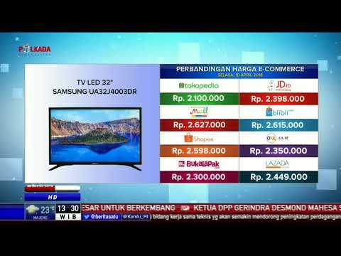 Perbandingan Harga e-Commerce: TV LED 32 inch Samsung UA32J4003DR
