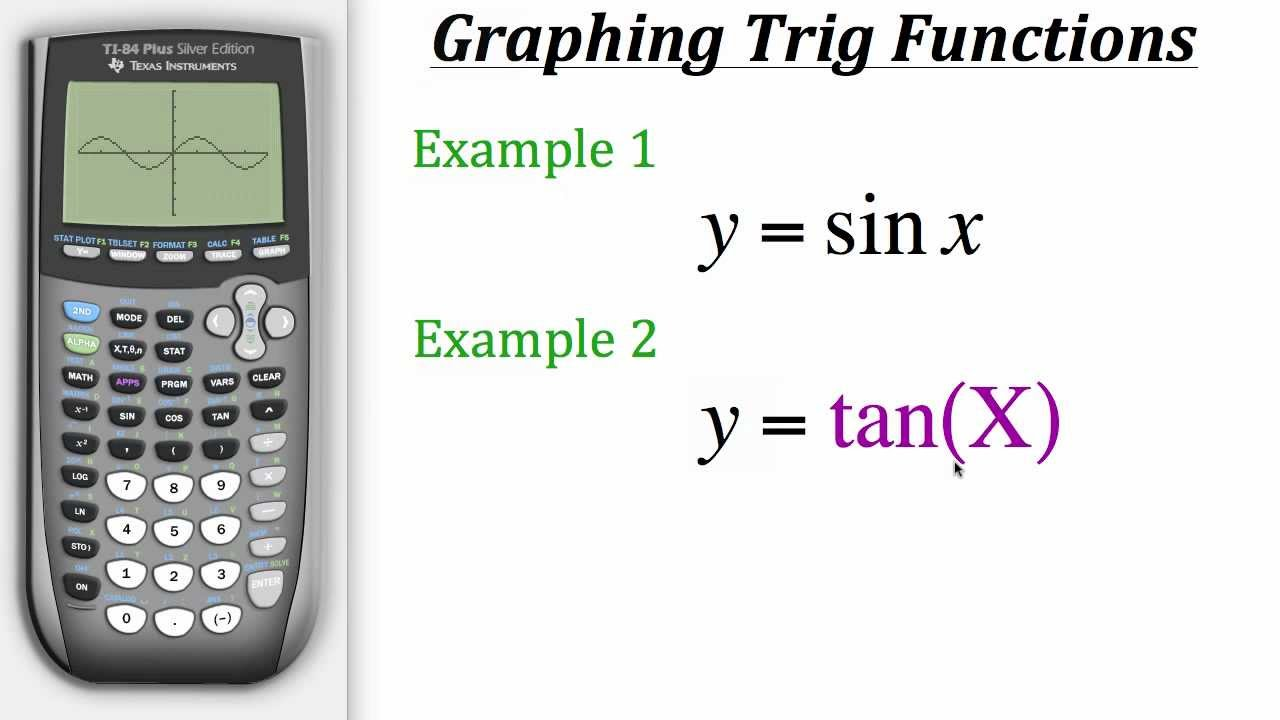 ti calculator tutorial graphing trig functions