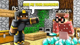 I Said YES to My BEST FRIEND For 24 HOURS in Minecraft Pocket Edition (Realms SMP S3 E46)