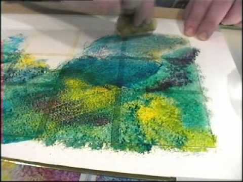 Glass Painting: Sponging and Stippling