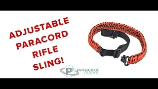 How To Make An Adjustable Paracord Rifle Sling