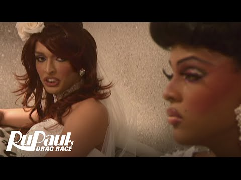 RuPaul's Drag Race Season 2: Tatianna vs. Tyra Sanchez - Wedding Dress Fight - Logo TV