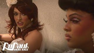 RuPaul's Drag Race Season 2: Tatianna vs. Tyra Sanchez - Wedding Dress Fight - Logo TV