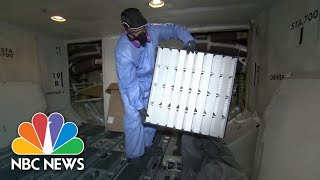 How Air Gets Filtered On An Airplane | NBC News NOW