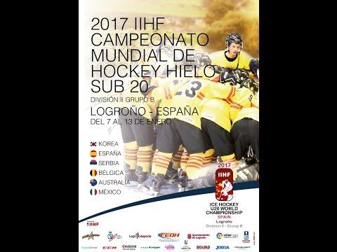 IIHF ICE HOCKEY U20 WORLD CHAMPIONSHIP Div. II Group B Korea - Belgium