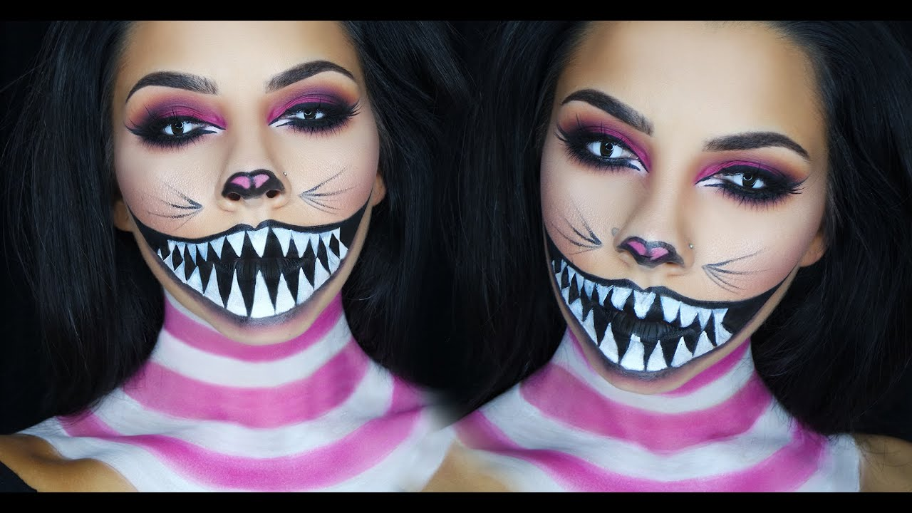 Cheshire Cat Halloween Makeup Tutorial | TinaKpromua - YouTube