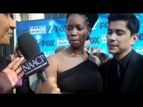 Erika Alexander and Jeremy Ray Valdez at the 42nd NAACP  Awards