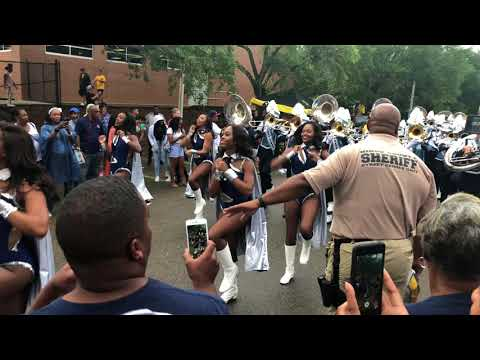 Jackson State University Sonic Boom of The South enters the Rock (USM)