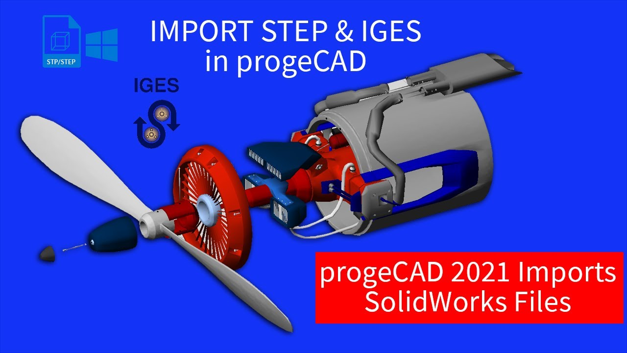 STEP2DWG import/export STEP IGES to DWG  STEP to DWG, IGES