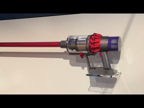 Jake Dyson introducing the Dyson Cyclone V10 vacuum